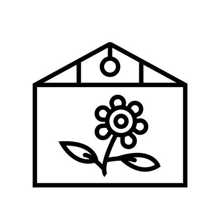 Broeikasgassen pictogram vector geïsoleerd op een witte achtergrond, broeikasgassen transparante teken, lijn of lineaire teken, element ontwerp in kaderstijl Vector Illustratie