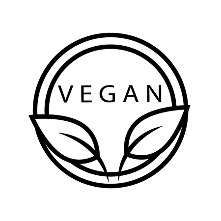 Vegan icon vector isolated on white background, Vegan transparent sign , line or linear sign, element design in outline style