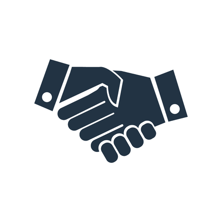 Hand shake icon vector isolated on white background, Hand shake transparent sign