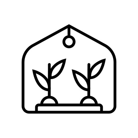 Greenhouse icon vector isolated on white background, Greenhouse transparent sign , line or linear sign, element design in outline style