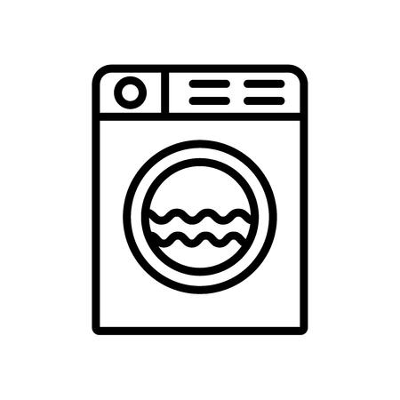 Machine à laver icône vecteur isolé sur fond blanc, signe transparent de machine à laver Vecteurs