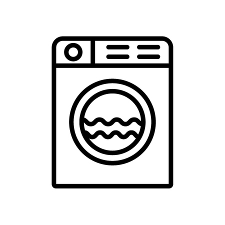 Washing machine icon vector isolated on white background, Washing machine transparent sign