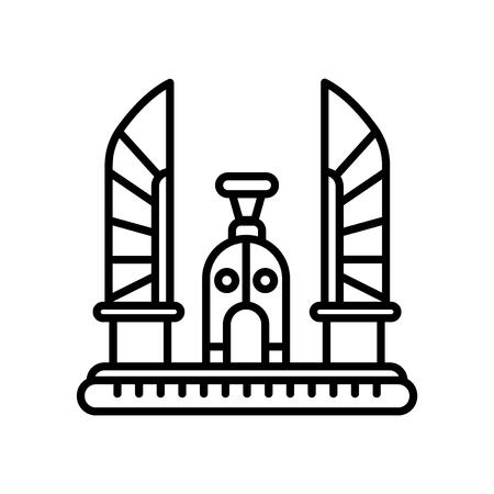 Icona del monumento della democrazia vettoriale isolato su sfondo bianco, segno trasparente del monumento della democrazia, linea o segno lineare, elemento di design di una struttura Vettoriali