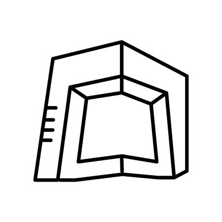 Vector icono de la sede de CCTV aislado sobre fondo blanco, signo transparente de la sede de CCTV, señal de línea o lineal, diseño de elementos en el estilo de contorno Ilustración de vector
