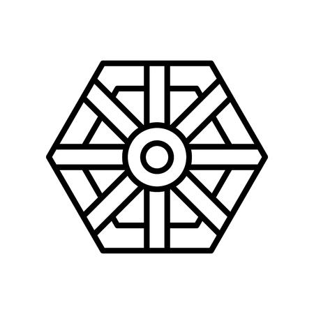 Pa kua mirror icon vector isolated on white background, Pa kua mirror transparent sign Ilustração