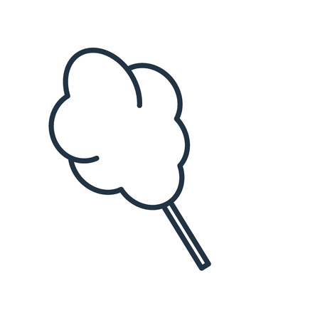 Cotton candy icon vector isolated on white background, Cotton candy transparent sign Illustration