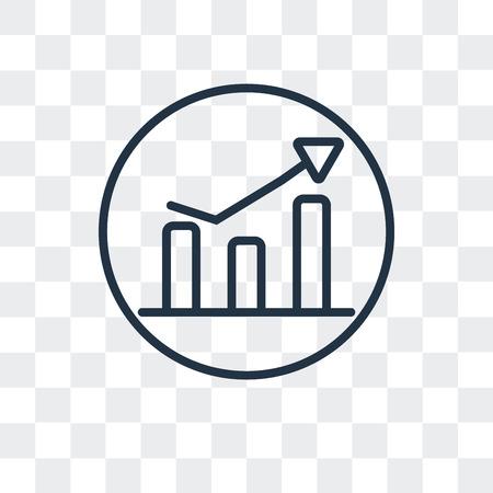 Icône de vecteur de statistiques isolé sur fond transparent, concept logo statistiques Logo