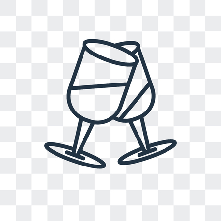 Champagne vector icon isolated on transparent background, Champagne logo concept