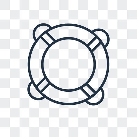 Rubber ring vector icon isolated on transparent background, Rubber ring logo concept