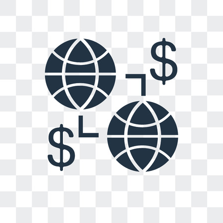 Globe vector icon isolated on transparent background, Globe logo concept  イラスト・ベクター素材