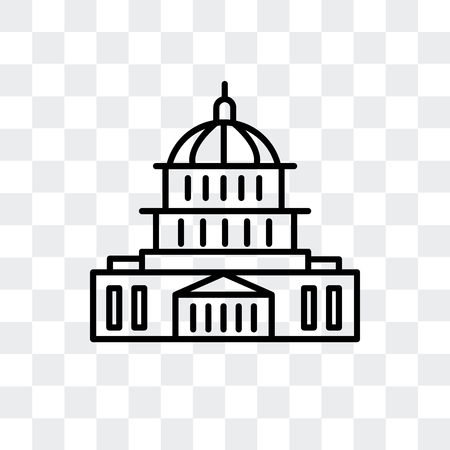 United States Capitol vector icon isolated on transparent background, United States Capitol logo concept