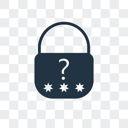 Passwort-Vektor-Symbol isoliert auf transparentem Hintergrund, Passwort-Logo-Konzept