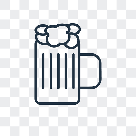 Beers vector icon isolated on transparent background, Beers logo concept