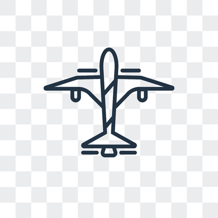 Flight vector icon isolated on transparent background, Flight logo concept