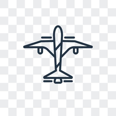 Icône de vecteur de vol isolé sur fond transparent, concept logo vol