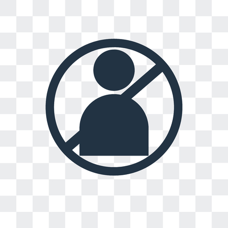 Banned vector icon isolated on transparent background, Banned logo concept