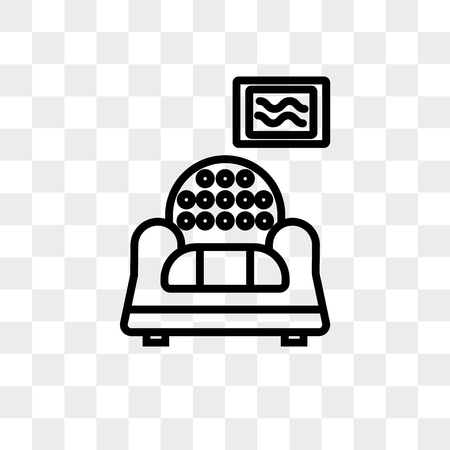 Livingroom vector icon isolated on transparent background, Livingroom logo concept