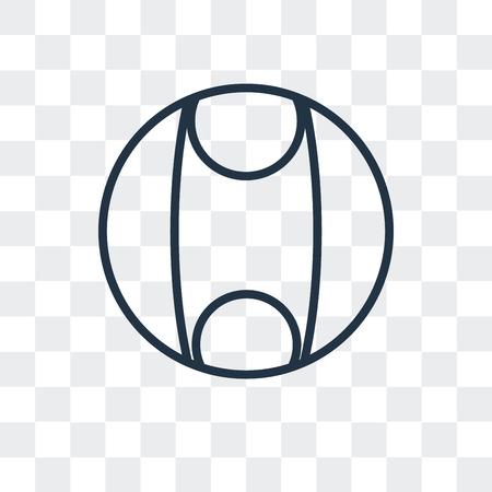 Beach ball vector icon isolated on transparent background, Beach ball logo concept