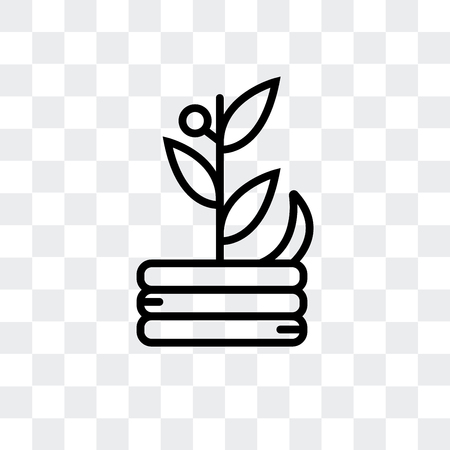 Compost vector icon isolated on transparent background, Compost logo concept