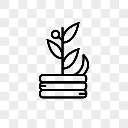 Icône de vecteur de compost isolé sur fond transparent, concept logo compost