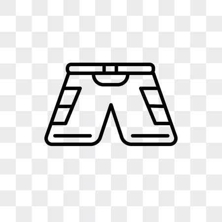 Shorts vector icon isolated on transparent background, Shorts logo concept Banque d'images - 107157178