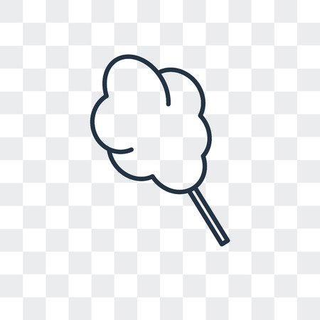 Cotton candy vector icon isolated on transparent background, Cotton candy logo concept