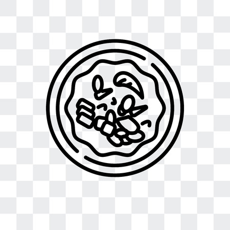 Chinese food vector icon isolated on transparent background, Chinese food logo concept