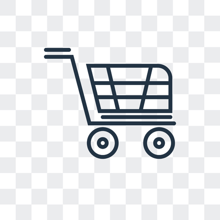 Trolley vector icon isolated on transparent background, Trolley logo concept 免版税图像 - 107263697