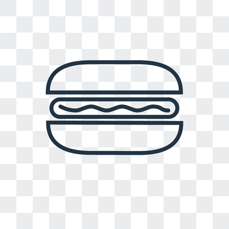 Hot dog vector icon isolated on transparent background, Hot dog logo concept  イラスト・ベクター素材