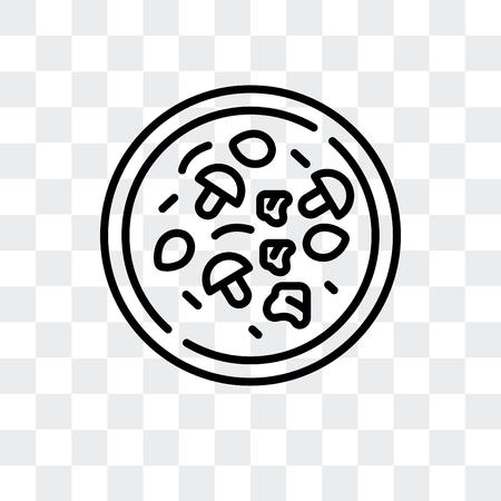 Icône de vecteur de cuisine chinoise isolé sur fond transparent, concept de logo de cuisine chinoise