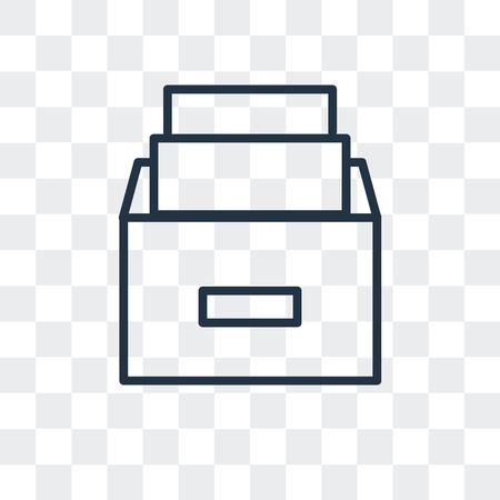 Folder vector icon isolated on transparent background, Folder logo concept