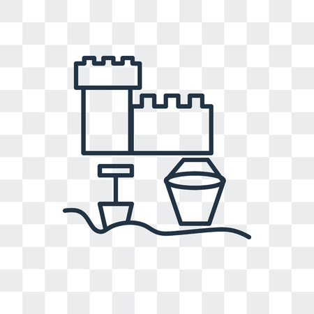 Sandbox vector icon isolated on transparent background, Sandbox logo concept Illustration