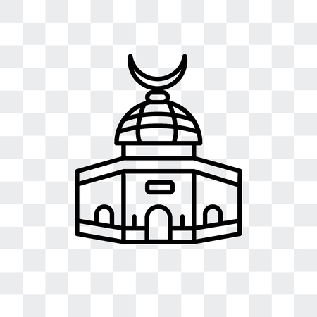 Dome of the Rock vector icon isolated on transparent background, Dome of the Rock logo concept