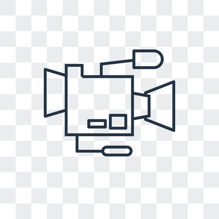 Film camera vector icon isolated on transparent background, Film camera logo concept