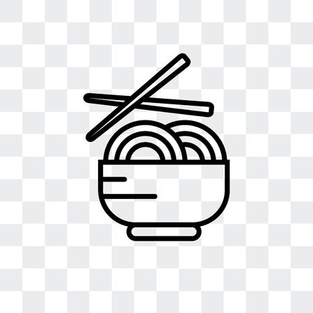Icône de vecteur de nouilles isolé sur fond transparent, concept logo nouilles Logo