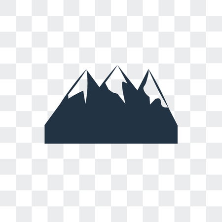 Mountain vector icon isolated on transparent background, Mountain logo concept
