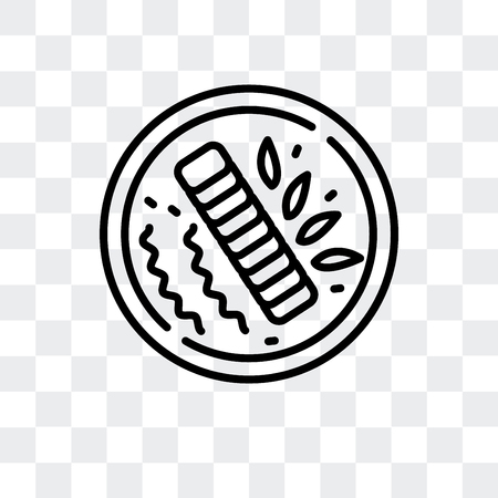 Char siu vector icon isolated on transparent background, Char siu logo concept