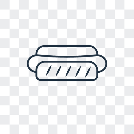 Hotdog vector icon isolated on transparent background, Hotdog logo concept Ilustração