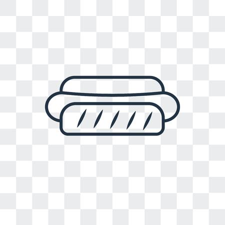 Hotdog vector icon isolated on transparent background, Hotdog logo concept Illustration