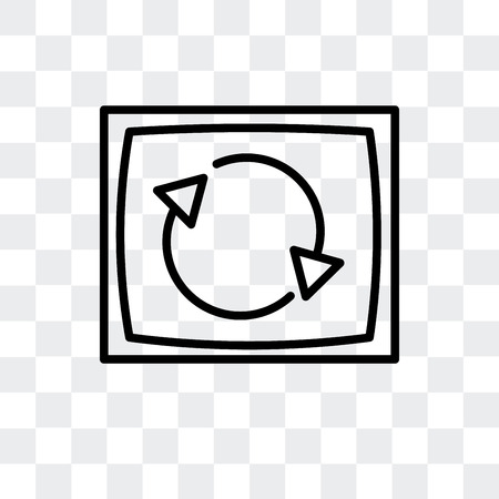 Rotation vector icon isolated on transparent background, Rotation logo concept Ilustrace
