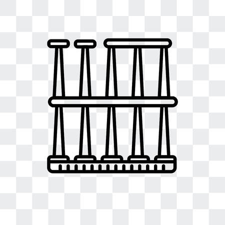 Roman Theatre of Merida vector icon isolated on transparent background, Roman Theatre of Merida logo concept Illustration