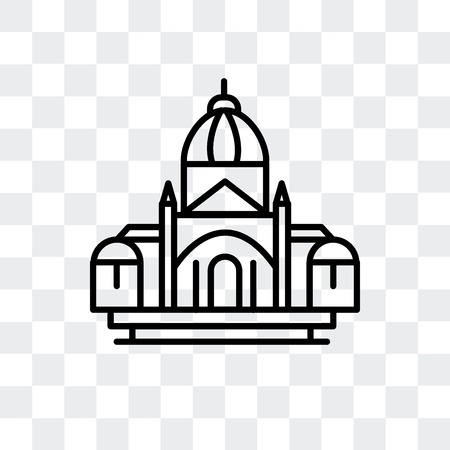 Basilica of the sac heart vector icon isolated on transparent background, Basilica of the sac heart logo concept Illustration