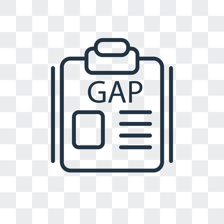 Gap vector icon isolated on transparent background, Gap logo concept