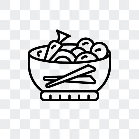 Dandan noodles vector icon isolated on transparent background, Dandan noodles logo concept