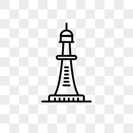 Smeatons tower vector icon isolated on transparent background, Smeatons tower logo concept Illustration