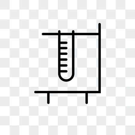 Test tube vector icon isolated on transparent background, Test tube logo concept Illustration