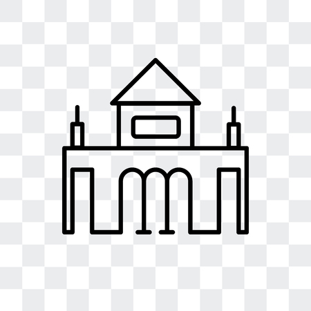 Alcala Gate vector icon isolated on transparent background, Alcala Gate logo concept