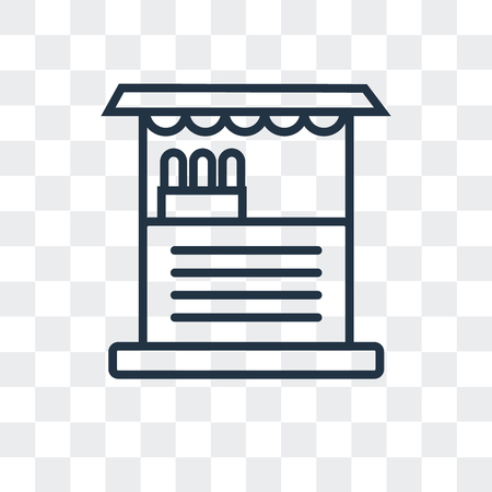 Store vector icon isolated on transparent background, Store logo concept