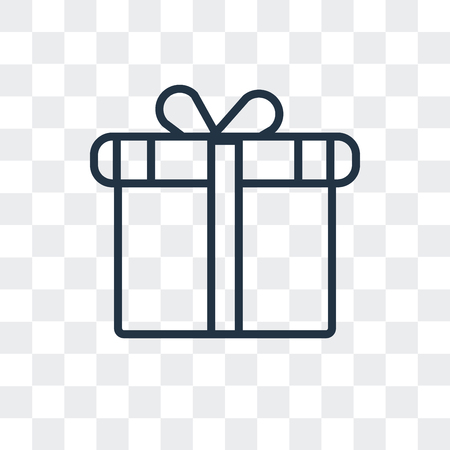 Gift vector icon isolated on transparent background, Gift logo concept Illustration