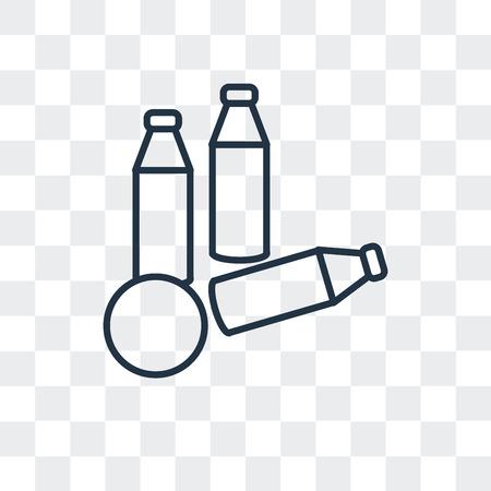 Flaschenwurfvektorsymbol lokalisiert auf transparentem Hintergrund, Flaschenwurflogo-Konzept